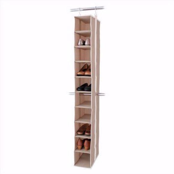 10 shelf closet organizer shoe storage